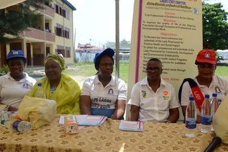 Pharm.(Mrs) Modupe Alli, chairma, Lagos State ALPs, Pharm.(Mrs ) Arilesere; Pharm. (Mrs) Bolanle Adeniran, chairmam, Lagos PSN; and Pharm, Nsese Mfom Ufot, vice chairman, Lagos ALPs, at the event.