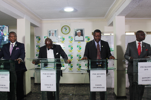 PSN Decide 2018: Presidential Aspirants slugged it Out Ahead of Election