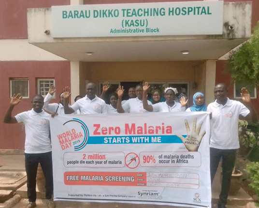 Family medicine doctors at BDTH Kaduna, raised their hands to defeat malaria.