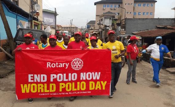 Gbagada Agog, as Rotary Club Walks for Zero Polio Campaign