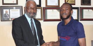 Pharmanews Celebrates Frank Eze, Presents Award Plaque, Cheque to Him