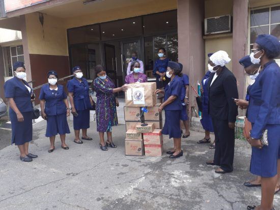 Public Health Nurses Donate PPEs, Facemasks to Lagos State Government