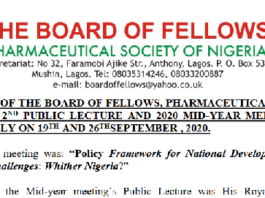 Communiqué of BOF-PSN 2nd Public Lecture & 2020 Mid-Year Meeting