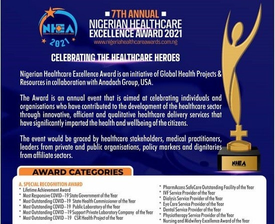 Healthcare Federation Partners Nigerian Healthcare Excellence Award