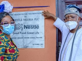 Nestlé Nigeria Renovates Community Health Centre in Sagamu